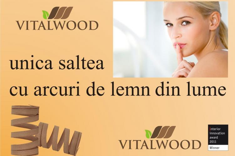 Prima saltea cu arcuri de lemn din lume in premiera la Cluj! Saltelele Vitalwood au garantie 30 de ani (P)
