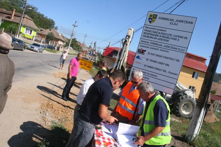 Drumuri judetene reabilitate intre Gherla - Camaras si Viisoara - Mociu FOTO