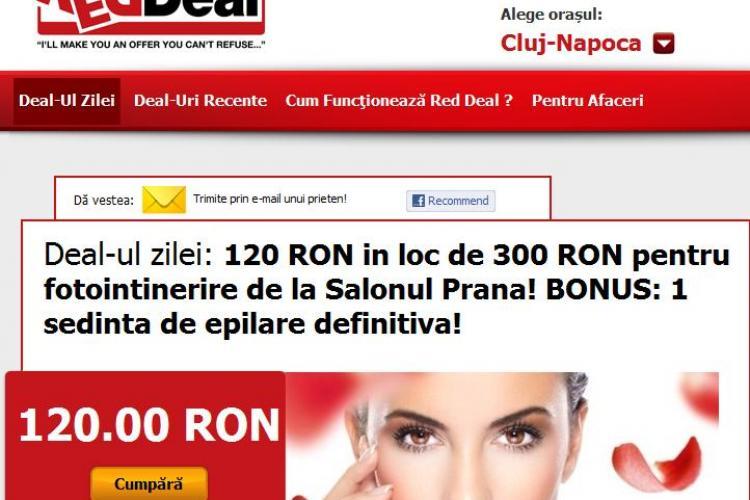 Deal-ul zilei: 120 RON in loc de 300 RON pentru fotointinerire de la Salonul Prana! BONUS: 1 sedinta de epilare definitiva! (P)