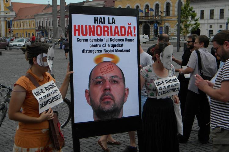 Tabara de Solidaritate la Rosia Montana la care participa activisti din toata Europa