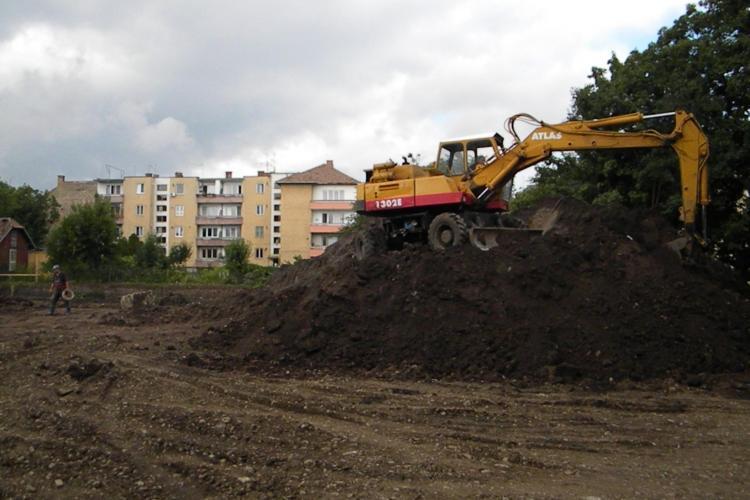 Lucrarile la noul sediu al Inspectoratului Scolar Cluj,  tergiversate din cauza Comisiei Nationale de Arheologie