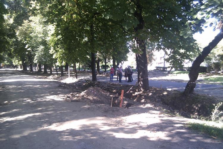 Aleile din Parcul Central, asfaltate si acoperite cu piatra de granit VIDEO