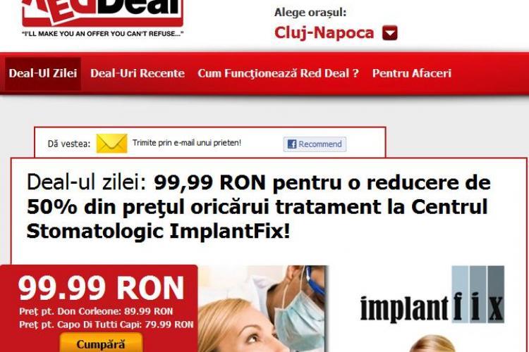 Ai nevoie de un  implant? Platesti 99,99 lei si primesti o reducere de 50% din pretul oricarui tratament la Centrul Stomatologic ImplantFix din Cluj (P)