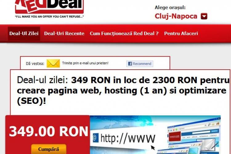 Vrei sa iti faci un site? Acum platesti 349 lei in loc de 2300 lei pentru creare pagina web, hosting (1 an) si optimizare (SEO)! (P)