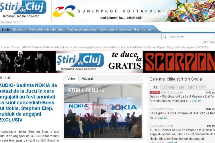 Aproape 14.000 de cititori, ieri, pe Stiri de Cluj! Va multumim tuturor pentru RECORDUL DE TRAFIC