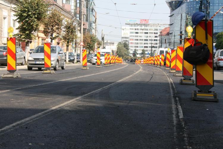 Lucrarile la linia de tramvai pe strada George Baritiu, finalizate! Circulatia revine la normal
