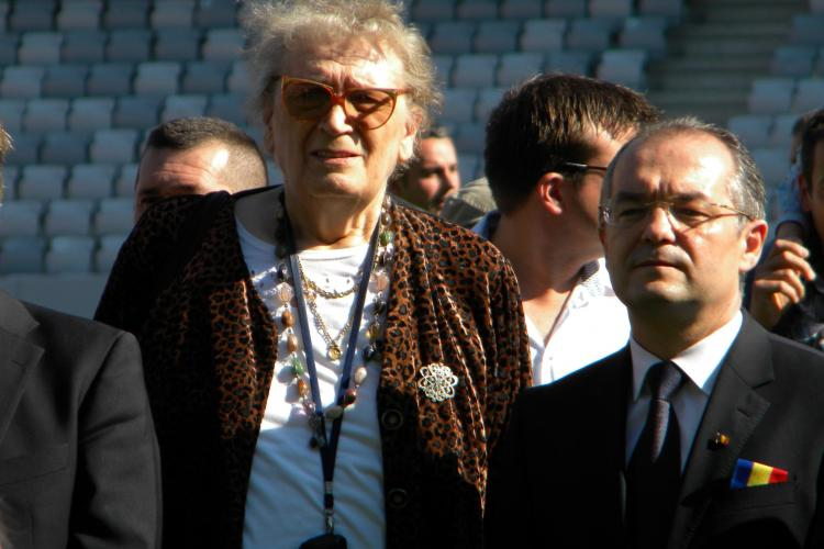 Gabi Szabo, Florin Piersic si Iolanda Balas Soter, la inaugurarea Cluj Arena