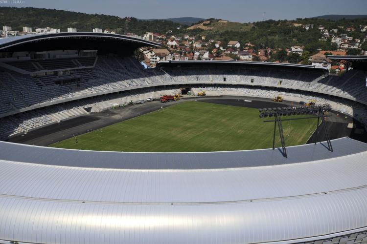 Cluj Arena prezinta fisuri! FOTO de la inaugurarea stadionului STIREA CITITORULUI