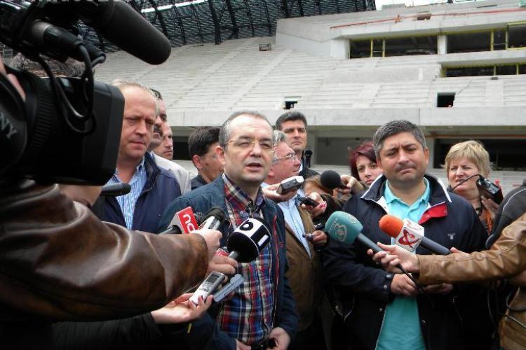 Emil Boc la inaugurarea Cluj Arena, sambata, 1 octombrie