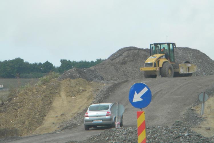 Centura Valcele - Apahida, deschisa in noiembrie! Boc: Clujenii sa-si faca poze cu TIR urile ca nu le vor mai vedea in oras