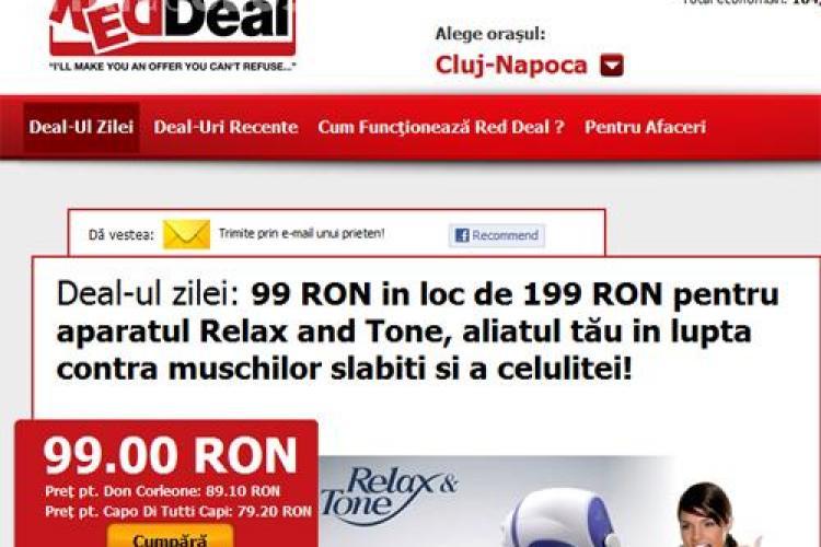 Deal-ul zilei: 99 lei in loc de 199 lei pentru aparatul Relax and Tone, aliatul tau in lupta contra muschilor slabiti si a celulitei! (P)