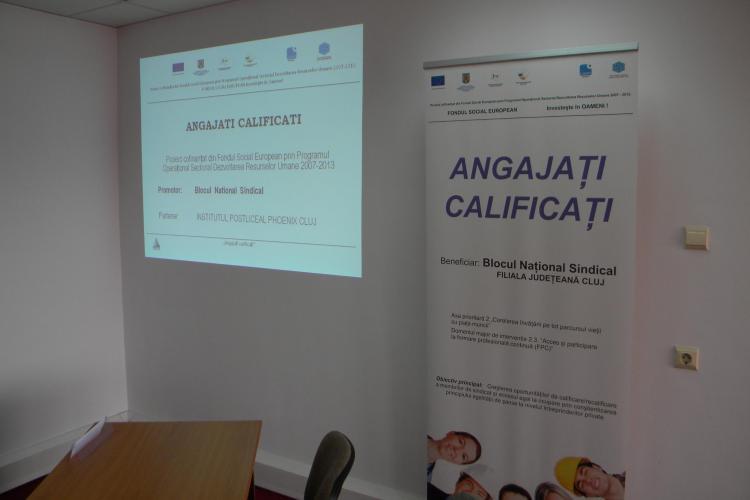 "Sindicalistii BNS Cluj, recalificati din fonduri europene, prin programul ""Angajati calificati!"" VIDEO"
