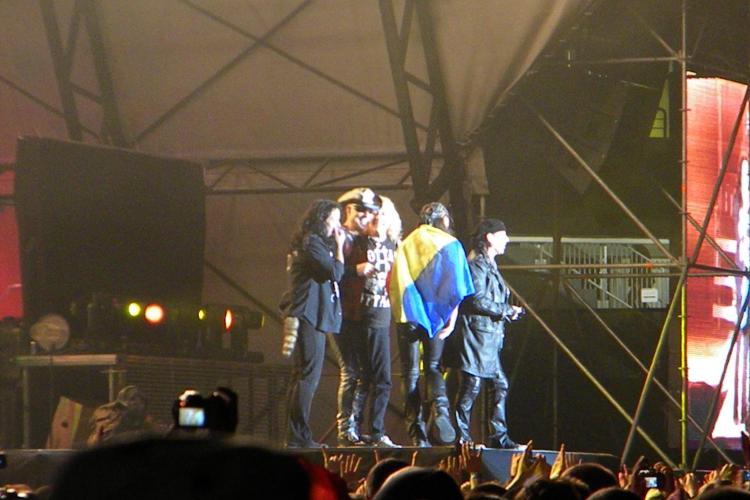 Scorpions cu tricolorul pe scena! VEZI fotografii memorabile de la concertul de pe Cluj Arena