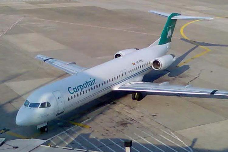 Carpatair acuza conducerea Aeroportului Cluj de abuz in cazul avionului blocat pe pista