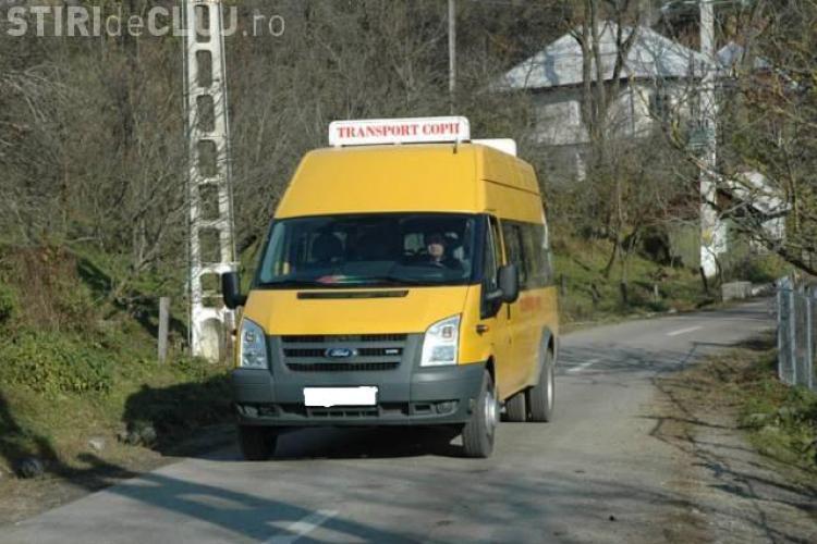Soferul unui microbuz scolar prins in Cluj cu alcoolemia de peste 1 la mie! In masina erau 14 copii