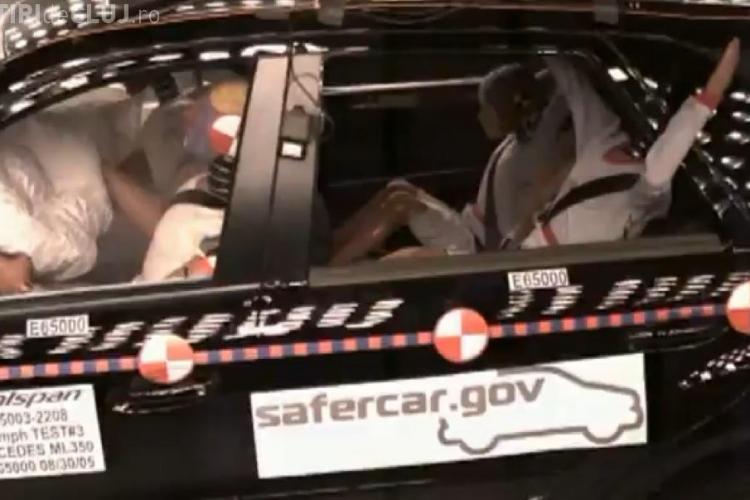 Cum a aratat accidentul lui Huidu vazut din interiorul masinii! Simulare crash test VIDEO
