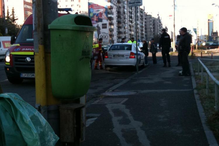 Accident la capatul podului Calvaria, spre Billa FOTO STIREA CITITORULUI