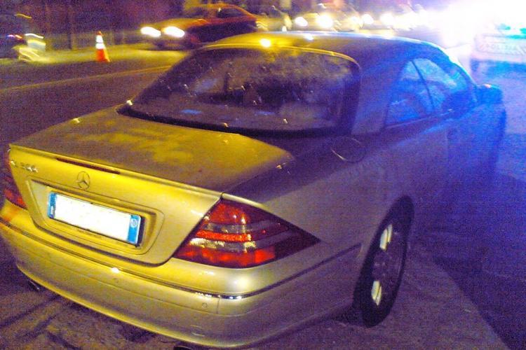 Accident mortal la Floresti! Doua persoane spulberate de un Mercedes inmatriculat in Italia FOTO