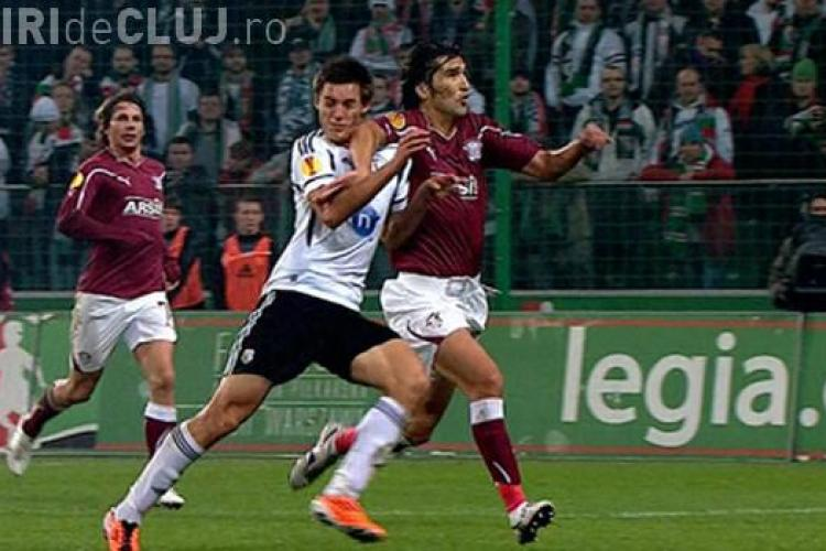 Legia Varsovia - Rapid 3-1. Giulestenii scosi din cursa