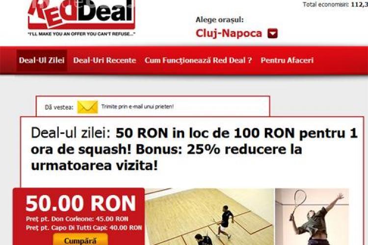 Iti place squash? Acum platesti 50 lei in loc de 100 lei pentru o ora de squash! Bonus: 25% reducere la urmatoarea vizita! (P)