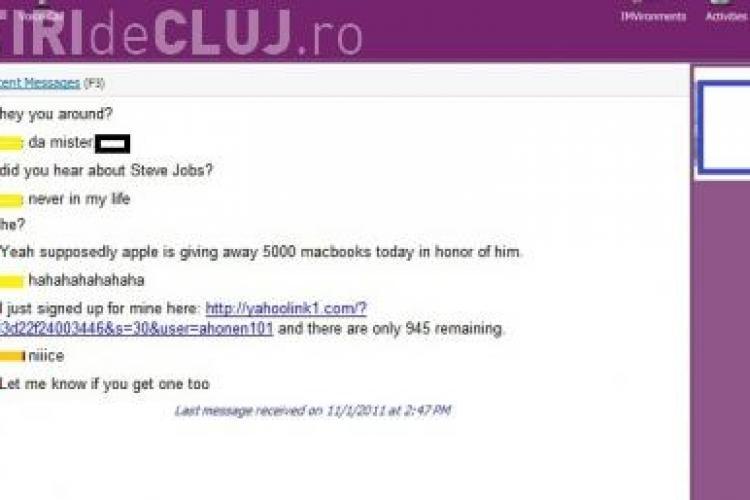 Un nou virus face ravagii pe messenger! Daca face conversatie cu tine despre Steve Jobs si te trimite la o pagina Apple, nu da click. E virus!
