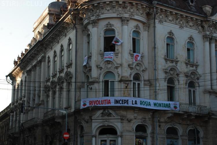 Ocupati Conti - Protest pentru Rosia Montana VIDEO si FOTO