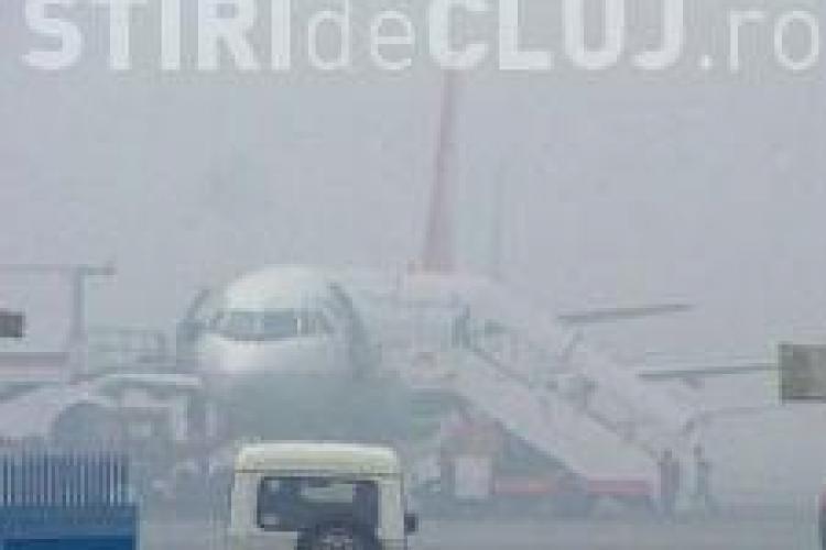 Ceata pe Aeroportul Cluj! Cursa spre Londra a fost anulata, iar cea spre Paris amanata