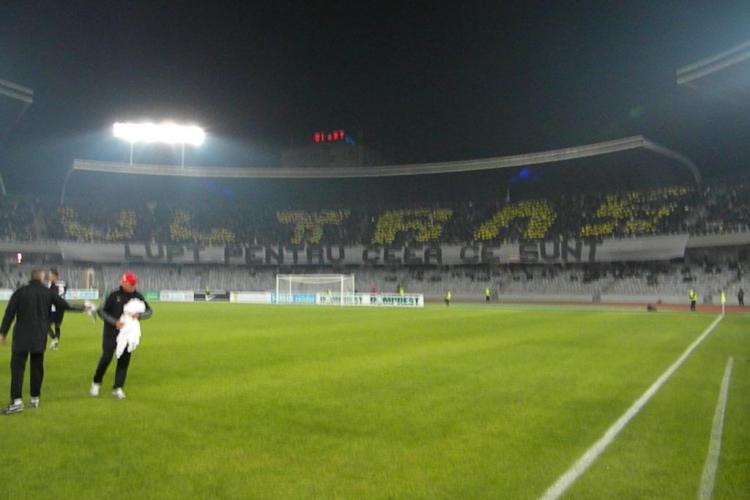 Galeria U Cluj, show senzational la meciul cu Dinamo VIDEO si FOTO