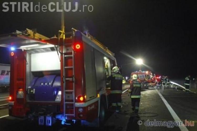Accident in Ungaria! Un camion a spulberat un autocar si 14 romani au murit