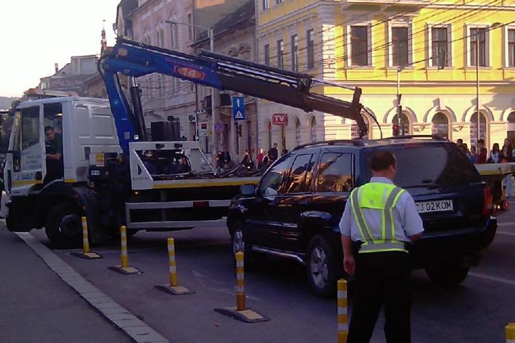 Ridicarea masinilor din Cluj-Napoca s-ar putea relua! Consilierii locali voteaza o noua hotarare