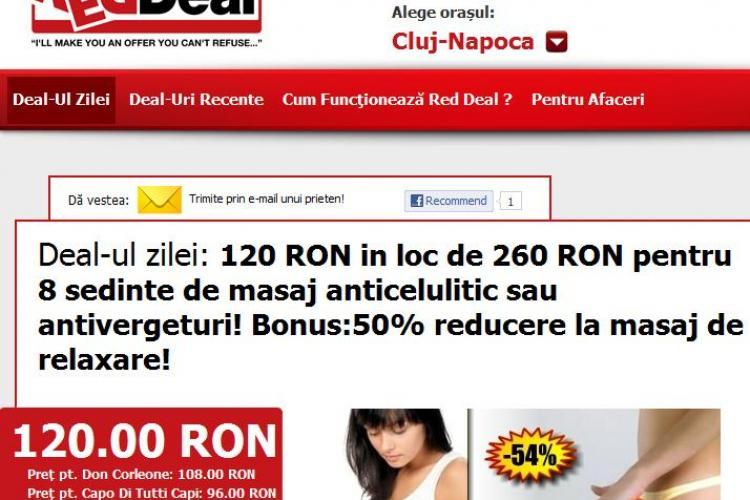 120 lei in loc de 260 lei pentru 8 sedinte de masaj anticelulitic sau antivergeturi! Bonus:50% reducere la masaj de relaxare! (P)