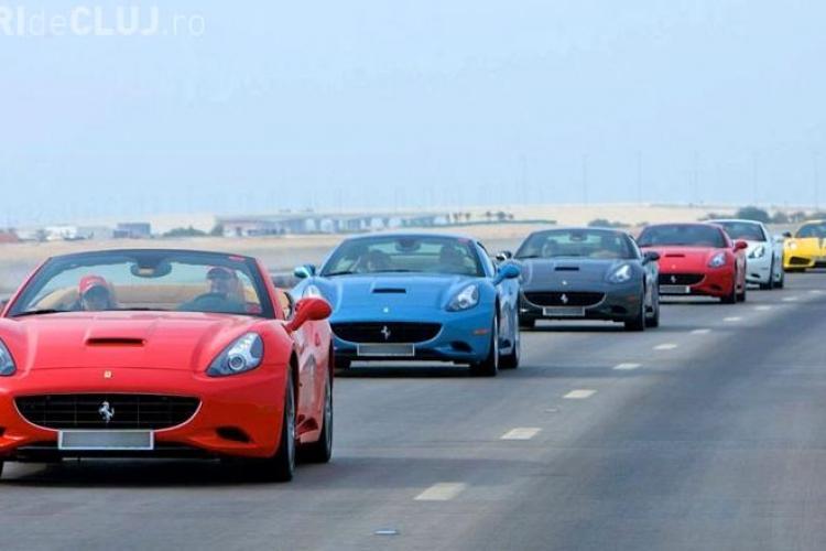 Unii nu stiu ce e criza! Parada Ferrari intre Dubai si Abu Dhabi FOTO SI VIDEO