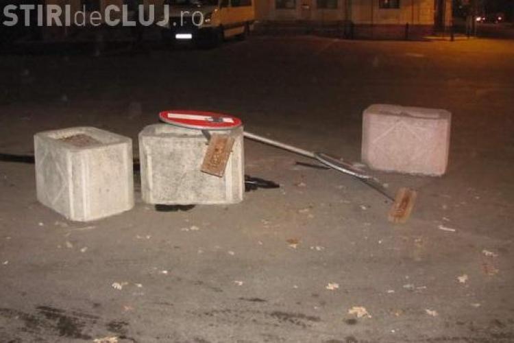 A produs un accident in Gherla si a fost gasit de politie pe baza urmei de ulei lasata VIDEO