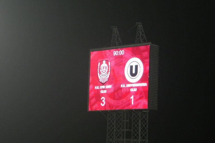 CFR Cluj - U Cluj 3-1! REZUMAT VIDEO