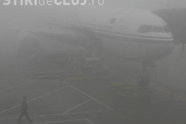 Tensiune pe Aeroportul Cluj din cauza cetii! Cinci curse anulate