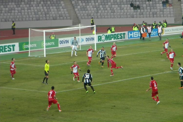 U Cluj - Otelul - 1-1! Tony a egalat in minutul 92 VIDEO