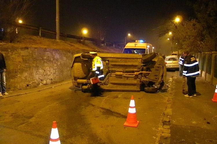 Accident grav pe Calea Turzii. O femeie se zbate intre viata si moarte, dupa ce a fost proiectata sapte metri VIDEO si FOTO