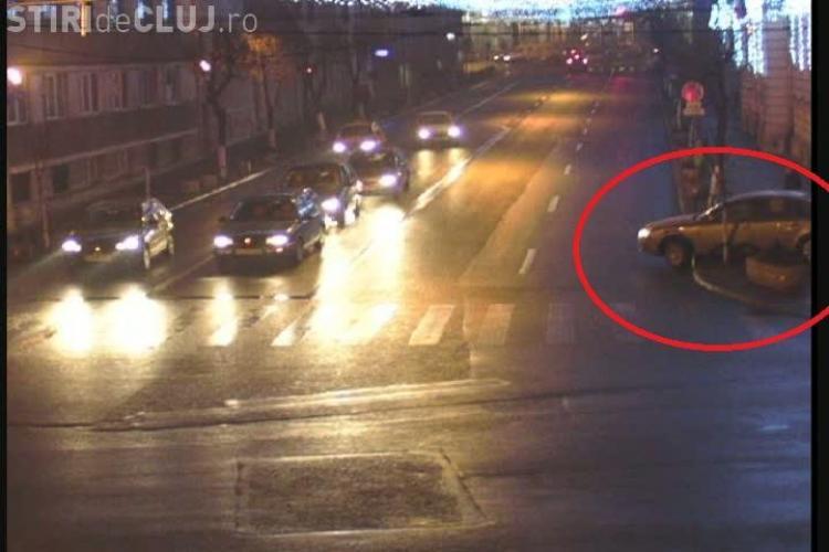 Un sofer a intrat cu masina in Primaria Cluj-Napoca! VIDEO CAMERE DE SUPRAVEGHERE