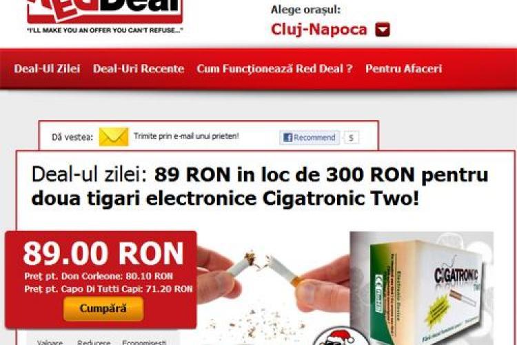 Vreti sa va lasati de fumat? Acum 70% reducere pentru doua tigari electronice Cigatronic Two! (P)