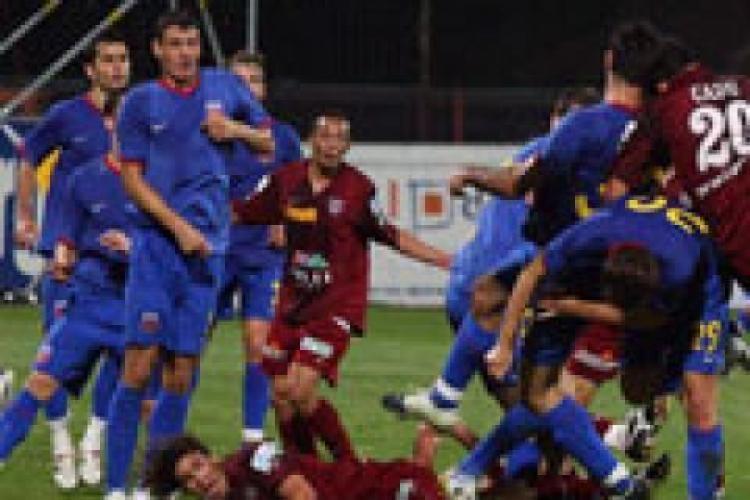 Steaua - CFR Cluj 1-1 REZUMAT VIDEO! Clujenii au facut cu greu fata asediului Stelei