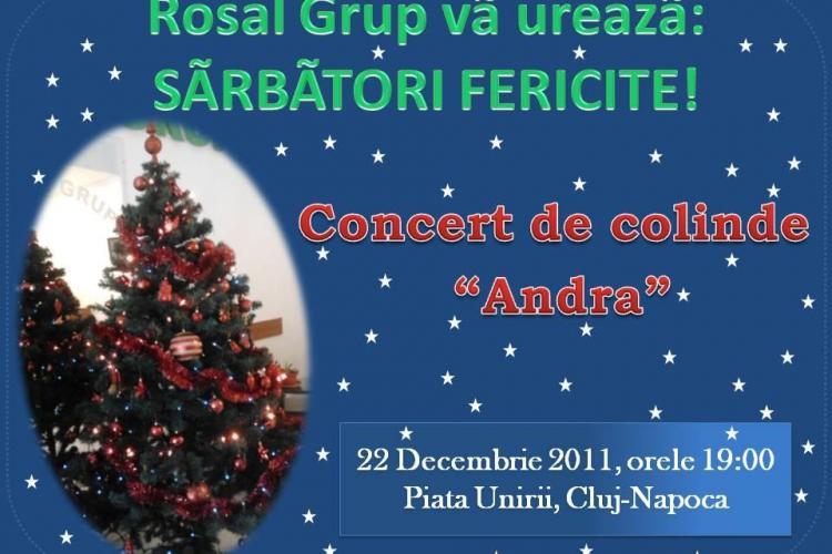 Concert Andra, in 22 decembrie, in Piata Unirii