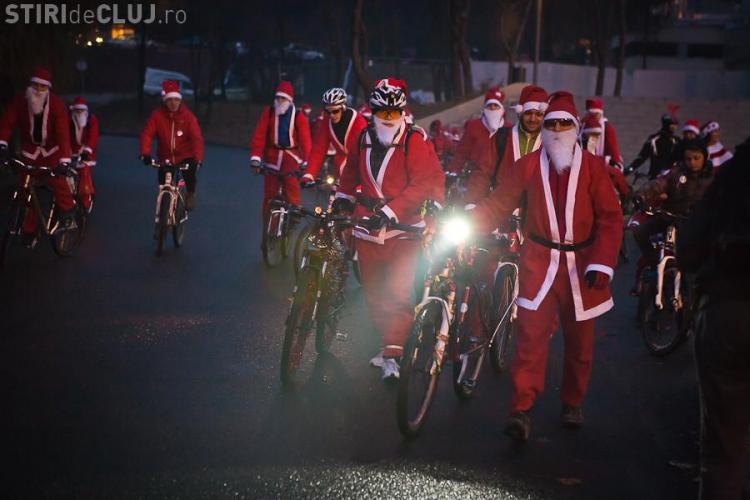 Mos Craciun iese iarasi pe bicicleta la Cluj! Vezi programul