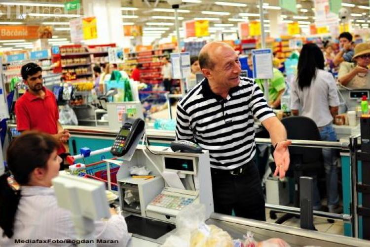 Traian Basescu la cumparaturi: Trebuie sa nu cumparam zarzavaturi olandeze!