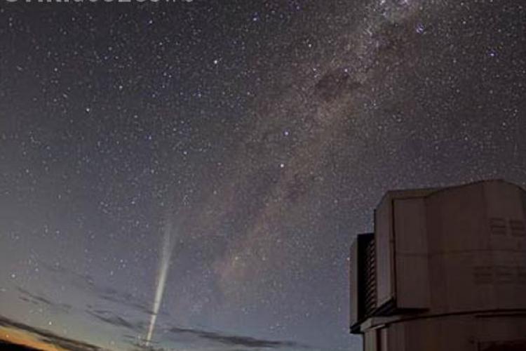O cometa a supravietuit dupa ce a trecut prin Soare. Imagini SPECTACULOASE VIDEO