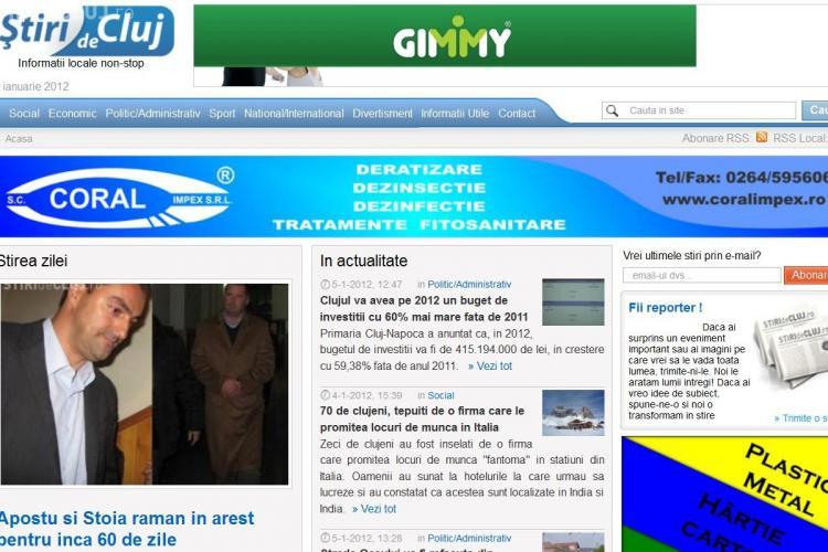 Stiri de Cluj, cel mai citit ziar on-line din Cluj! RECORD DE TRAFIC pe Stiri de Cluj- 14.554 de cititori unici!  VA MULTUMIM