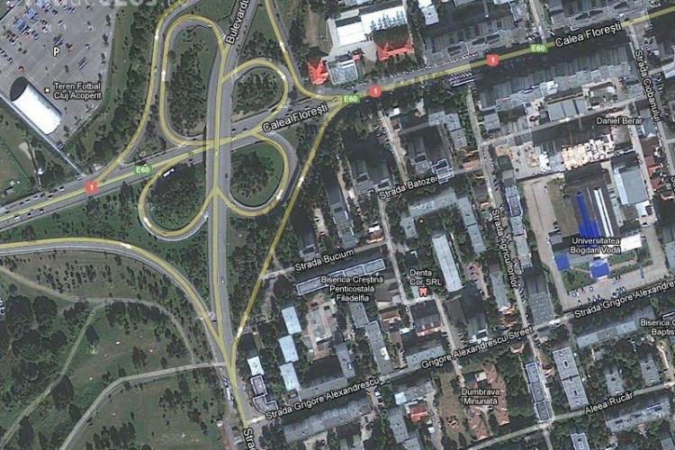 Un bloc de 25 de etaje ar putea fi ridicat pe Calea Floresti, langa Nodul N VIDEO