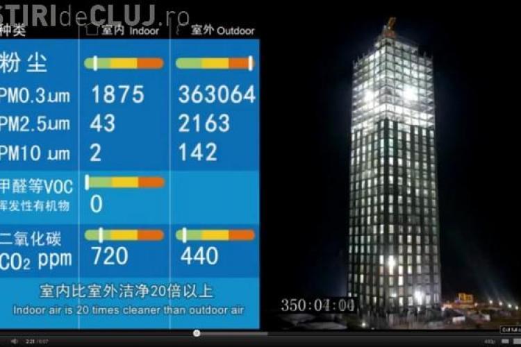 Chinezii au construit un hotel de 30 de etaje in 15 zile VIDEO