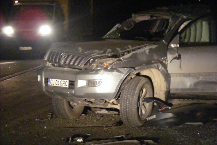 Accident pe Bulevardul Muncii, langa fabrica Emerson! O masina s-a rasturnat in urma impactului violent VIDEO