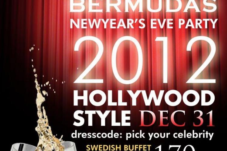 Mega party in stil Hollywood de revelion in Bermudas Pub