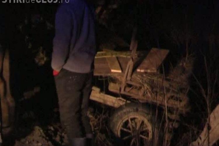 Accident la Glod, langa Dej! O caruta a fost lovita de o masina pe DN 1C VIDEO